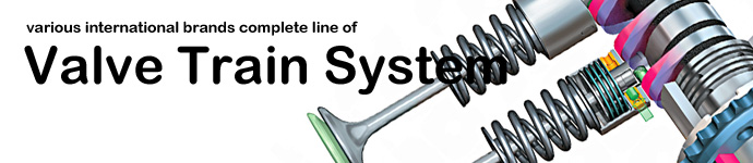 DPS offers various international brands complete line of Valve Train System