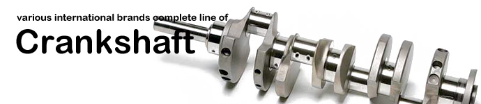 Various international brands complete line of Crankshaft