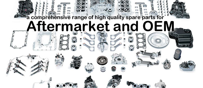 We provide worldwide customers with a comprehensive range of high quality spare parts for aftermarket and OEM.